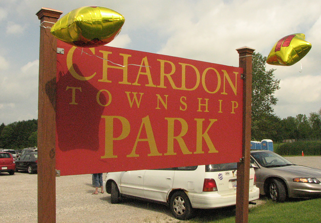 chardon township park sign