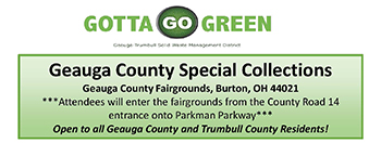 2021 Geauga County Special Collection Dates