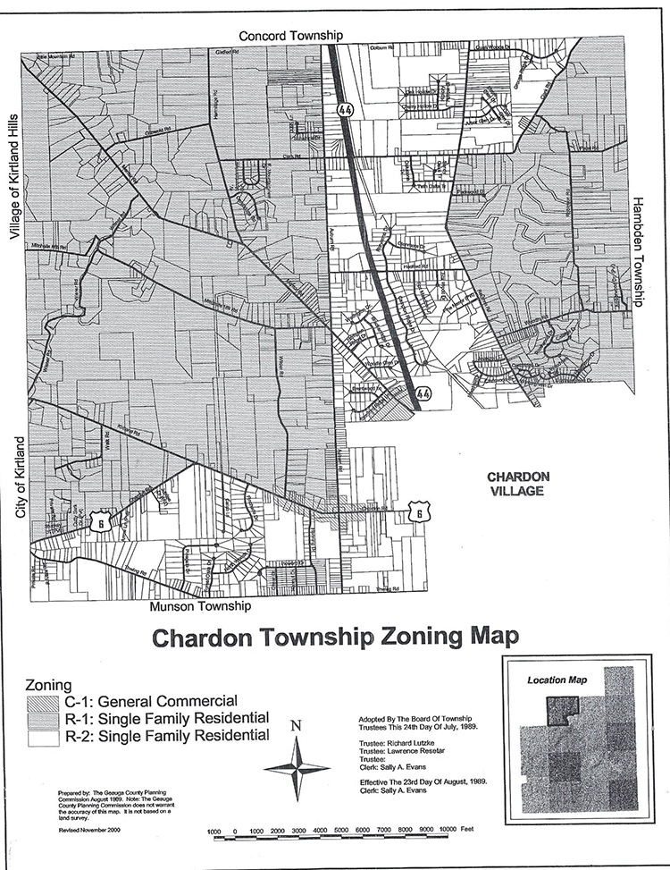 township zoning map